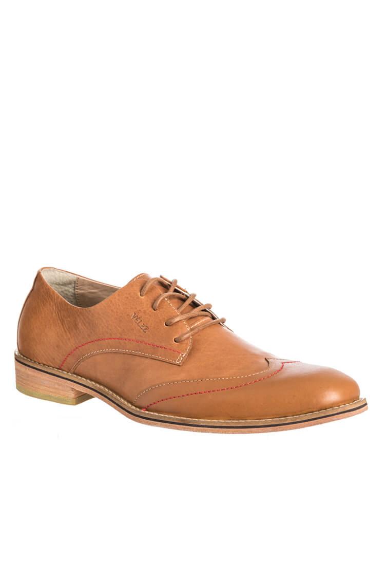 Mexx - Zapatos de cordones de cuero para hombre marrón marrón, color marrón, talla 46