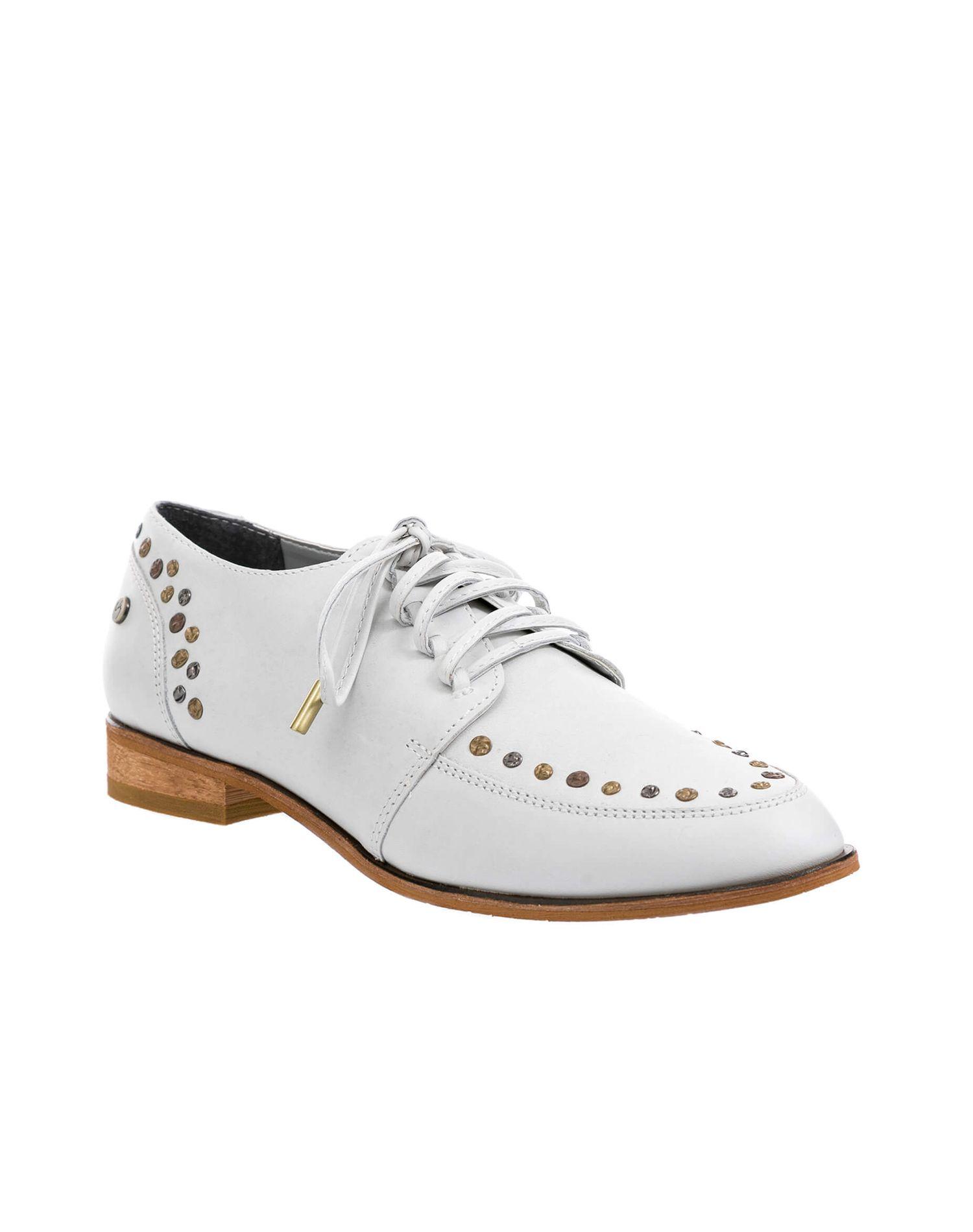 Zapatos de cuero con cordón para mujer 13066  7e82eeb5e8ad5