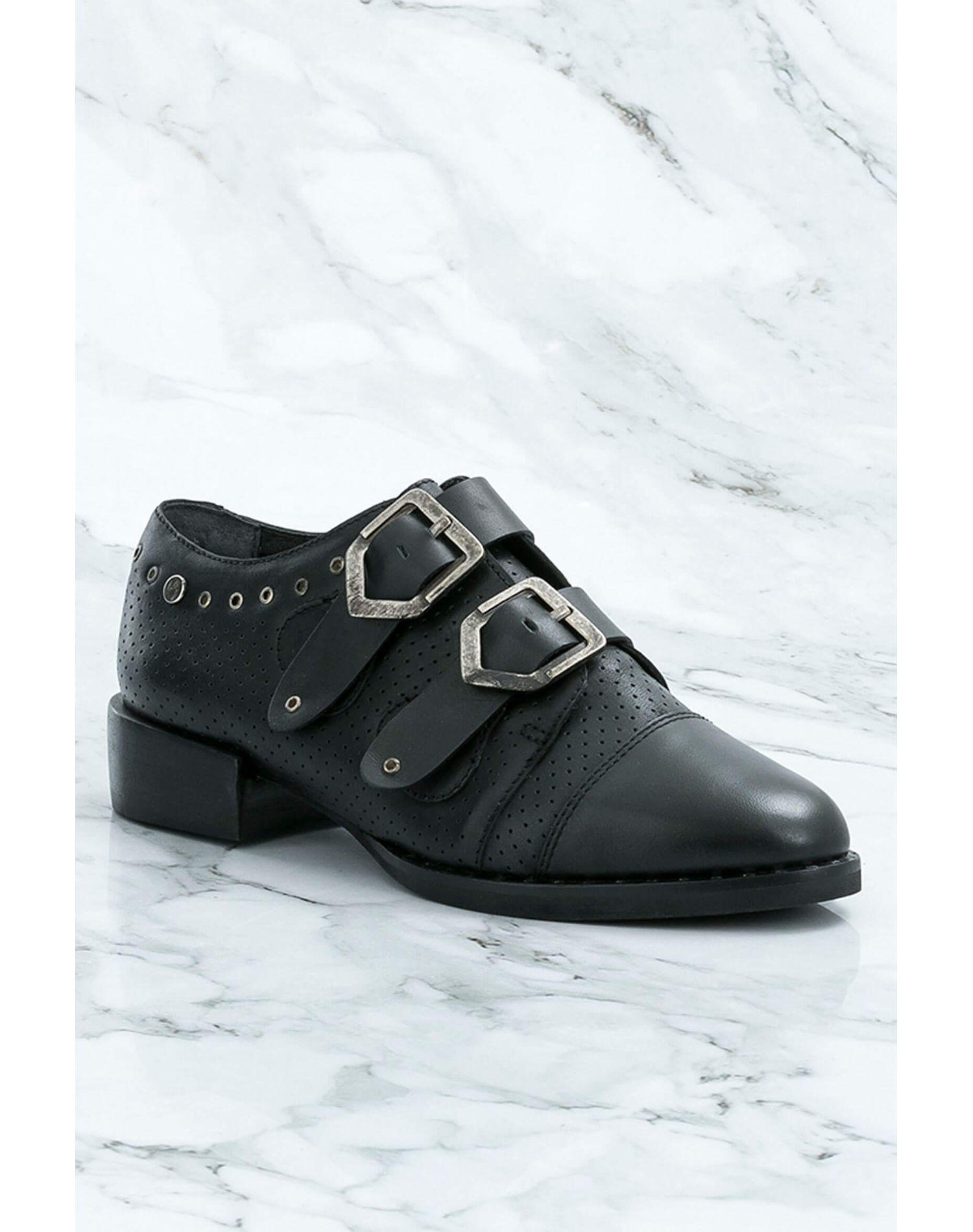 Zapatos de cuero con cordón para mujer 13508  ba532a53c8a8d