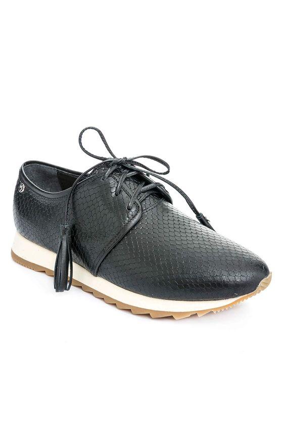 Zapatos-de-cuero-con-cordonpara-mujer ... 898e41c7b9d54