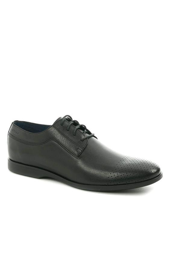 Zapatos-de-cuero-con-cordon-para-hombre ... b7b271ff63d4