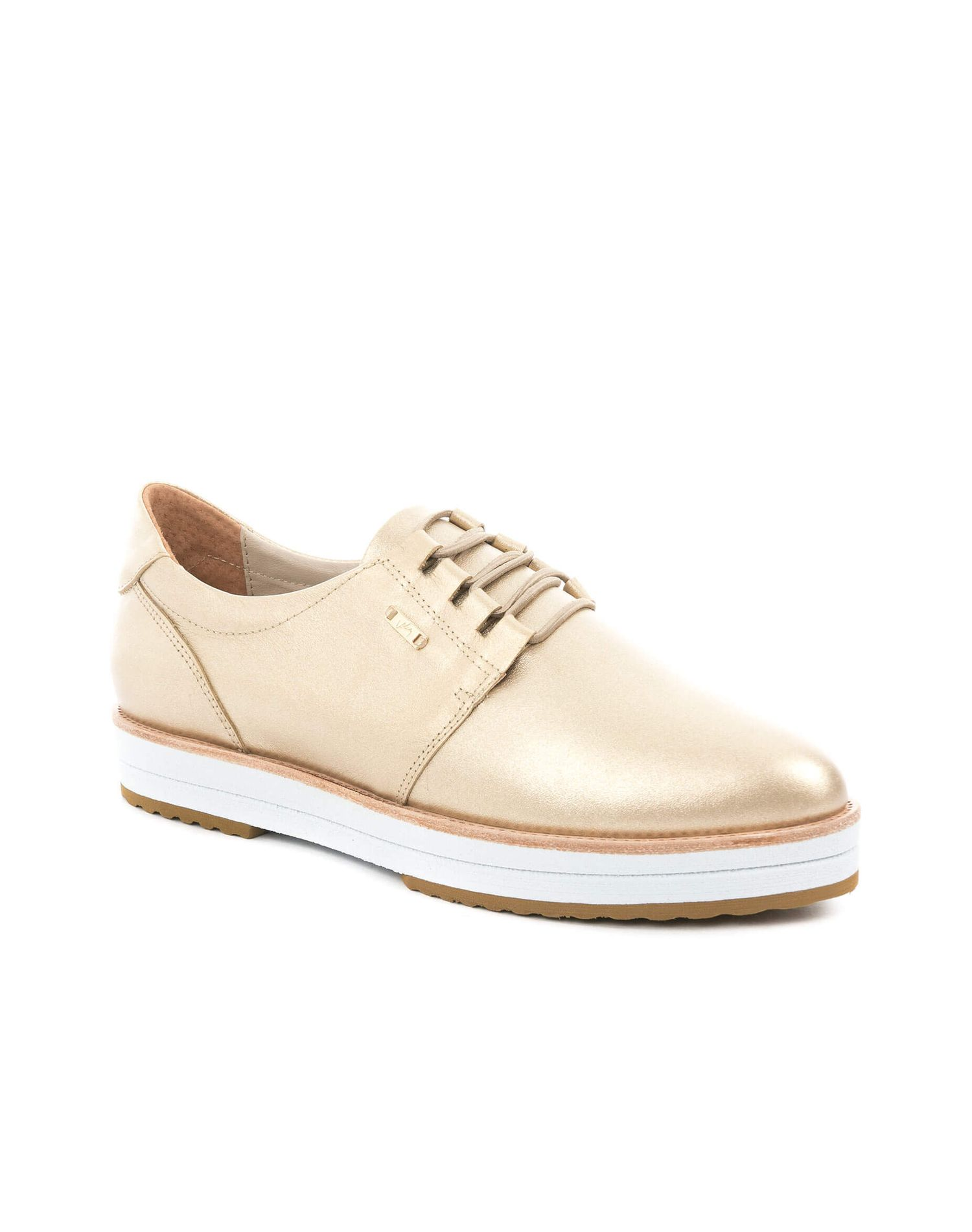 Zapatos Mila de cuero con cordón para mujer  d54008f7392dc