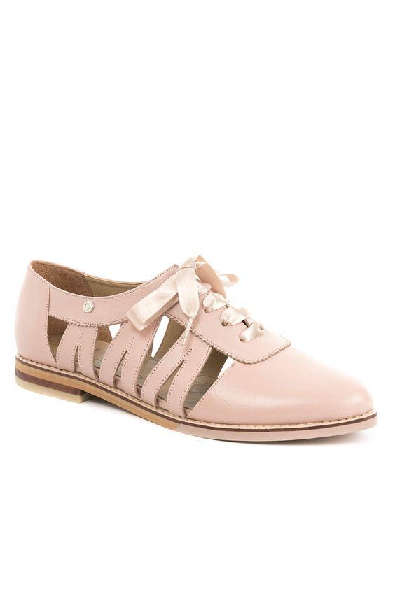 Zapatos de cuero con cordón para mujer 21768  8dfee84089b76