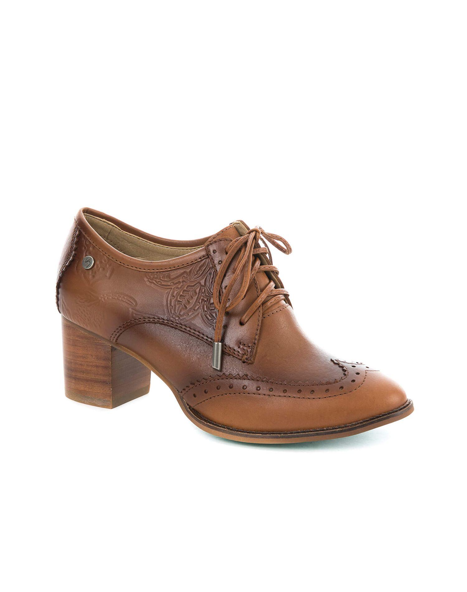Zapatos de cuero con cordón para mujer 19089  264dae7f9f7a5