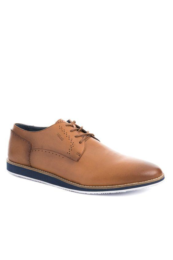 Zapatos-de-cuero-con-cordon-para-hombre ... f6c609e2206b