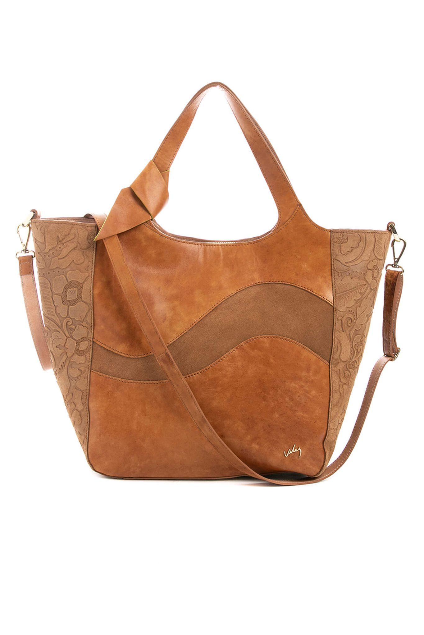 2a3a665306d Bolso shopping de cuero para mujer 21957