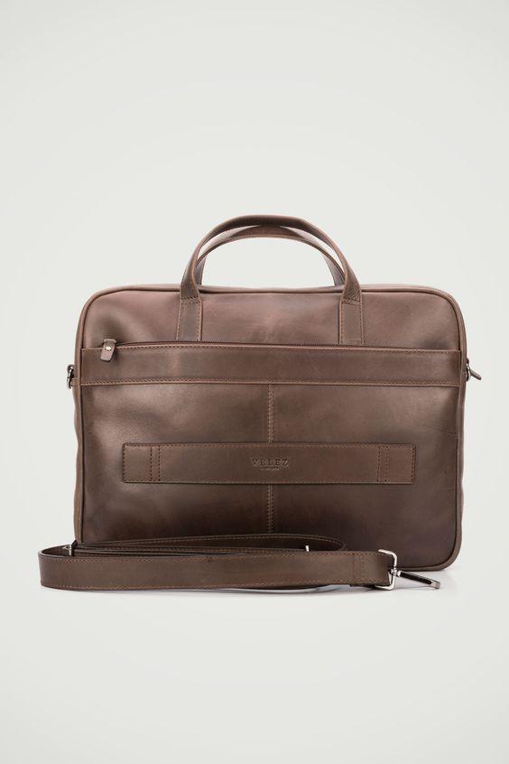 como comprar pulcro paquete elegante y resistente Bolso maletín portátil de cuero para hombre