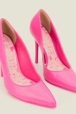 Tacones-Pink-Barbie-de-cuero-para-mujer