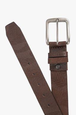 Cinturon unifaz de cuero para hombre